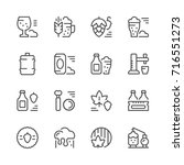 set line icons of beer isolated ... | Shutterstock . vector #716551273