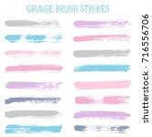 modern watercolor daubs set ...   Shutterstock .eps vector #716556706
