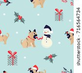 christmas and  new year holiday ... | Shutterstock .eps vector #716564734
