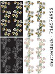 seamless pattern with flowers... | Shutterstock .eps vector #716576953