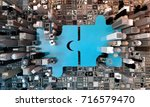 merger and acquisition business ... | Shutterstock . vector #716579470