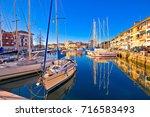 town of grado colorful...   Shutterstock . vector #716583493