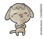 happy cartoon dog | Shutterstock .eps vector #716586010
