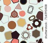 seamless artistic mixed... | Shutterstock .eps vector #716593408
