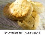 pan de coco bread  with coconut ... | Shutterstock . vector #716595646
