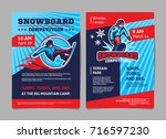 snowboard competition posters ... | Shutterstock .eps vector #716597230