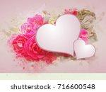 illustration of romantic...   Shutterstock . vector #716600548