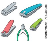 vector set of nail clipper | Shutterstock .eps vector #716601088