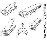 vector set of nail clipper | Shutterstock .eps vector #716601100