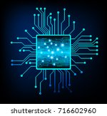 binary circuit future... | Shutterstock .eps vector #716602960