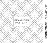 seamless pattern with simple... | Shutterstock .eps vector #716604949