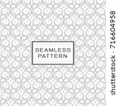 seamless pattern with simple... | Shutterstock .eps vector #716604958
