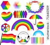 Rainbow Colour Icon Collection