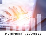 stock market economy and... | Shutterstock . vector #716605618