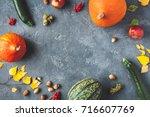 Autumn Frame Made Of Pumpkins ...