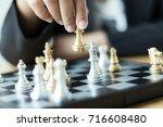 close up shot hand of business... | Shutterstock . vector #716608480