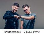 picture of two best friends men ...   Shutterstock . vector #716611990