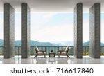 modern loft balconies and...   Shutterstock . vector #716617840
