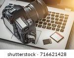 Modern Digital Dslr Camera And...