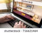 booking hotel travel traveler... | Shutterstock . vector #716621464