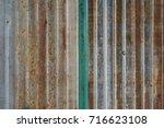 old rusty zinc wall  rusty zinc ... | Shutterstock . vector #716623108