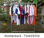 washing  washing shoes  backing ... | Shutterstock . vector #716623210