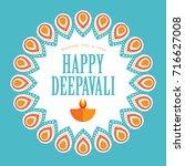 diwali or deepavali greetings... | Shutterstock .eps vector #716627008