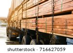 Timber transport truck park...