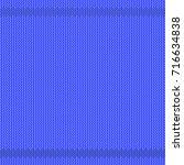 vector winter knitted blue...   Shutterstock .eps vector #716634838