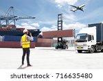 foreman control loading... | Shutterstock . vector #716635480