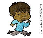 cartoon curious boy   Shutterstock .eps vector #716636674