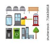 city elements design | Shutterstock .eps vector #716636818