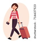 cartoon character design female ...   Shutterstock .eps vector #716637523