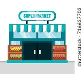 supermarket icon image | Shutterstock .eps vector #716637703