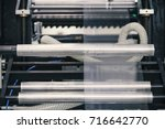 machine for packaging with...   Shutterstock . vector #716642770
