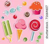 candies and sweet | Shutterstock .eps vector #71664607