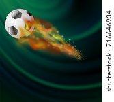 vector burning sport football...   Shutterstock .eps vector #716646934