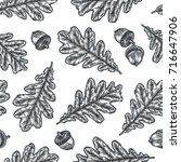 engraving seamless pattern of... | Shutterstock .eps vector #716647906