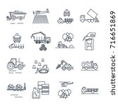 set of thin line icons... | Shutterstock .eps vector #716651869