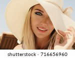 fashion outdoor photo of... | Shutterstock . vector #716656960