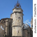 Small photo of The Clock Tower of the Church of Santiago in Betanzos. Gothic temple of the fifteenth century, At the foot of the church attached to its head, is the clock tower of the mid-sixteenth century