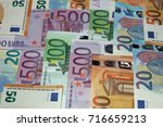 stack of different euro... | Shutterstock . vector #716659213