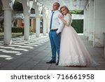 a lovely couple of newlyweds.... | Shutterstock . vector #716661958