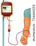 vector illustration of a donor... | Shutterstock .eps vector #716664253