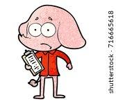 cartoon unsure elephant   Shutterstock .eps vector #716665618