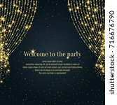 invitation template for the... | Shutterstock .eps vector #716676790
