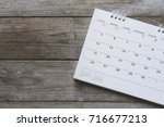 close up of calendar on the... | Shutterstock . vector #716677213
