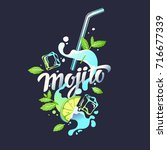 modern hand drawn lettering... | Shutterstock .eps vector #716677339