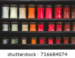 candle store scented candles... | Shutterstock . vector #716684074