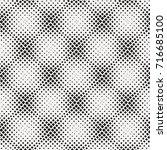 halftone geometric square shape ...   Shutterstock .eps vector #716685100